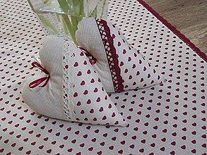 Úžitkový textil - srdiečko s všitou vônou levandule   - 6685848_