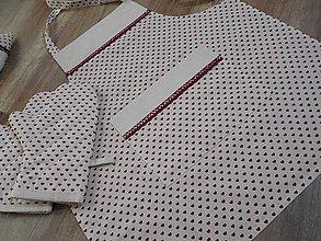 Úžitkový textil - zásterka s jemnými srdiečkami - 6686982_
