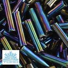 Korálky - TOHO rokajl (Bugle 9mm) Metallic rainbow iris - 6683478_