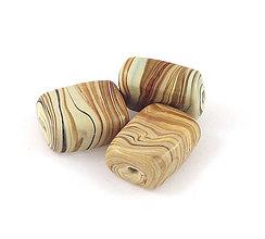 Korálky - Vinutka Wooden grain prisma - 6687515_