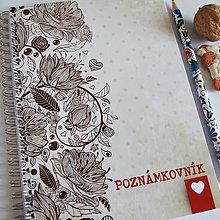 """Papiernictvo - Poznámkovník """"VINTAGE"""" A5 - 6684407_"""