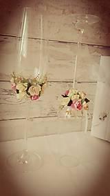 Poháre svadobné- staroružová....