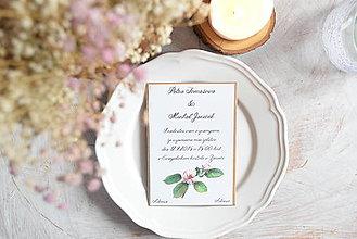 Darčeky pre svadobčanov - Oznámenie - natur - 6684616_