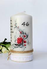 Dekoračná sviečka - narodeniny