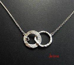 Náhrdelníky - Strieborný náhrdelník - Milovníci - 6685811_