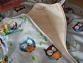 Textil - Sovičky na modrom, - 6683622_
