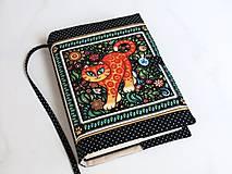 Papiernictvo - Veselá kočička I. - krásný obal na ,knihu,diář... - 6685890_