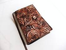 Papiernictvo - V barvě země - batika - obal na knihu  - 6685939_