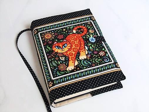 Veselá kočička I. - krásný obal na ,knihu,diář...