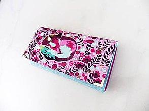 Peňaženky - Purple Fox - peněženka 17 cm, na spoustu karet - 6686072_
