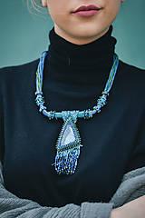 Náhrdelníky - Labradoritkový náhrdelník - 6683342_