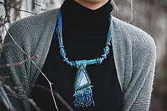 Náhrdelníky - Labradoritkový náhrdelník - 6683345_