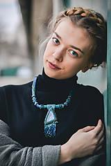 Náhrdelníky - Labradoritkový náhrdelník - 6683347_