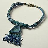 Náhrdelníky - Labradoritkový náhrdelník - 6683348_