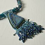 Náhrdelníky - Labradoritkový náhrdelník - 6683349_