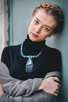 Náhrdelníky - Labradoritkový náhrdelník - 6683343_
