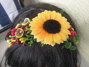 Ozdoby do vlasov - čelenka slnečnica - 6685161_