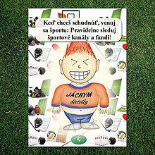 Papiernictvo - Zápisník jedál s vtipným citátom ,,Šport
