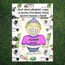 "Papiernictvo - Zápisník jedál s vtipným citátom ,,Šport"" (5) - 6684480_"