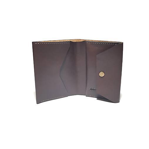 Pánska kožená peňaženka SLIM (hnedá)