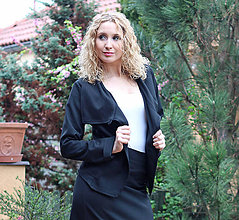Kabáty - Černé sáčko - 6689121_