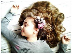Ozdoby do vlasov - Sponka-vábenie pivónii - 6692439_