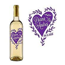 Darčeky pre svadobčanov - Vyrezávané svadobné etikety In Love - 6690783_