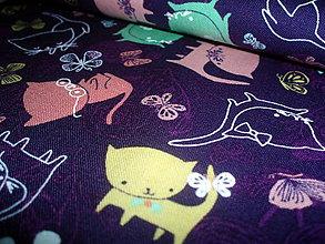 Textil - Bavlna Play Date in Amethyst - 6687865_
