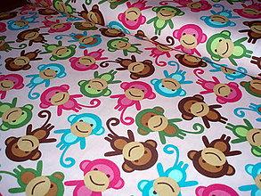 Textil - Urban-zoologie-ružové opice - 6687892_