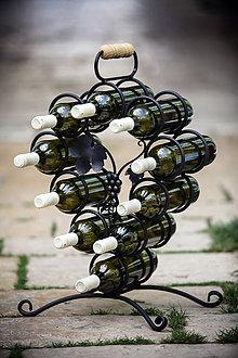 Iné doplnky - kovový stojan na víno - 6692117_
