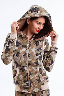 Mikiny - Bunda s kapucňou Army (Camouflage) - 6692668  1d5df6ff0c3