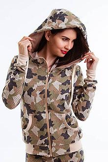 Mikiny - Bunda s kapucňou  Army  (Camouflage) - 6692668_