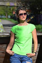 Tričká - Volné tričko s kapsičkou - ve 4 jasných barvičkách - 6692744_