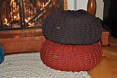 Úžitkový textil - Pufík kakao - 6690362_