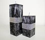 Luxusné čierne sviečky