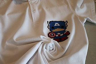 Tričká - detské tričko-polokošeľa Captain America - 6690921_