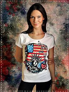 Tričká - Maľované tričko pre milovníčky New Yorku - 6688449_