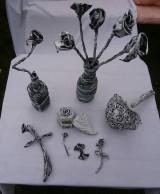 Dekorácie - Váza pred nevestu a ženícha. - 6005054_