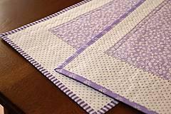 Úžitkový textil - Obrus - štóla fialová - 6692447_