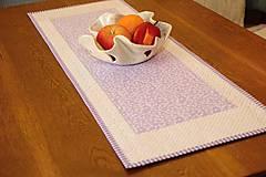 Úžitkový textil - Obrus - štóla fialová - 6692448_