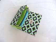 Peňaženky - Foral Deer - peněženka i na karty 17 cm - 6691742_