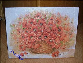 Obrázky - Obraz červené maky 40 x 30 cm - 6688274_