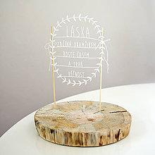 Dekorácie - LÁSKA ZAČÍNA OKAMIHOM ... zápich na tortu - 6690412_