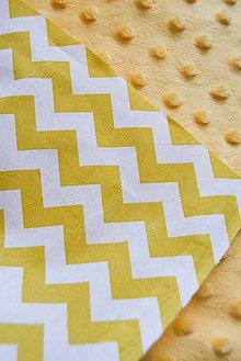 Textil - _BUVI... Žltý CHeVRoN & Žlté MiNKy... deka pre najmenších ♥ - 6694848_