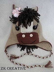 Detské čiapky - Koníková čiapočka - 6694773_