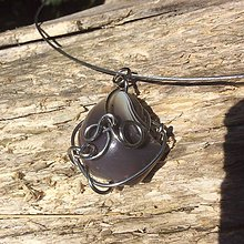 Náhrdelníky - náhrdelník s bostwanským achátom - 6694733_
