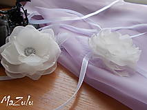 Dekorácie - kvety na spojenie pohárov - 6693327_