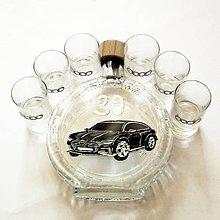 Iné - Ručne maľovaná fľaša auto k narodeninám:) Audi 9 na želanie - 6693369_