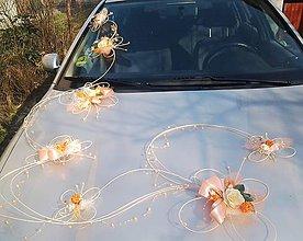 Dekorácie - Svadobná výzdoba na auto- 7 motýlů romantic - 6693096_