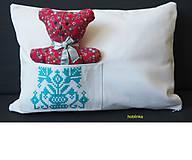 Úžitkový textil - Babka vynkúšik tyrkysové vrecúško - 6695170_